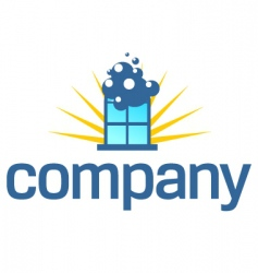 Window cleaning service logo vector