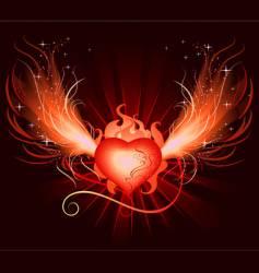 Heart phoenix vector