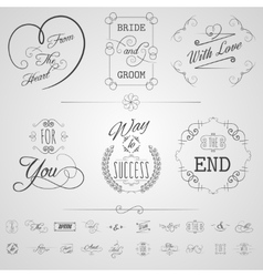 Calligraphy elements set vector