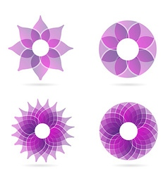 Pink abstract flower spa and beauty logo vector