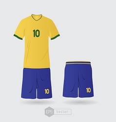 Brazil team uniform 01 vector