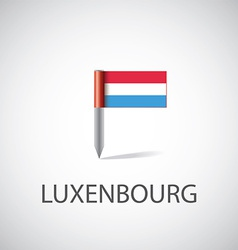 Luxembourg flag pin vector