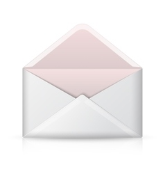 Blank realistic opened envelope isolated vector