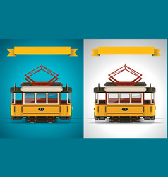 Retro tram xxl icon vector