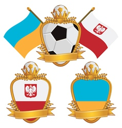 Poland and ukraine emblems vector