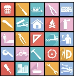 Collection flat icons with long shadow vector