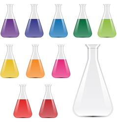 Laboratory flasks vector