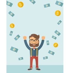 Young happy businessman vector