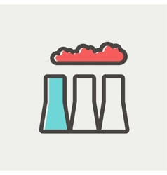 Factory pipe thin line icon vector