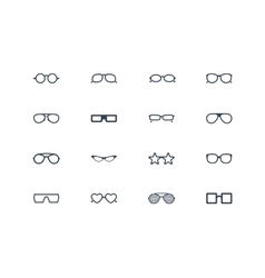 Eye glasses icons vector