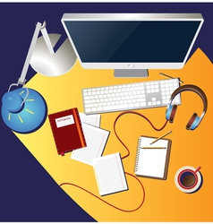 Workplace colorful vector