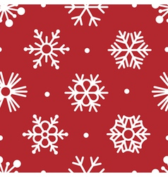 Snowflakes simple seamless vector