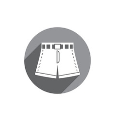 Shorts icon isolated vector