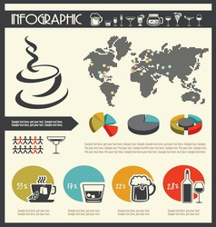 Infographic drinks resize vector
