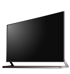 Tv modern flat screen lcd led vector