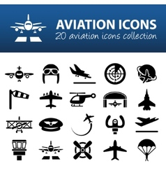 Aviation icons vector