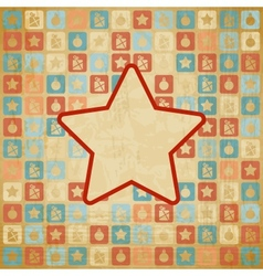 Retro christmas star background vector
