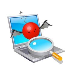 Icon laptop virus vector