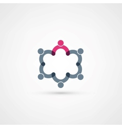 Business icon handshake vector