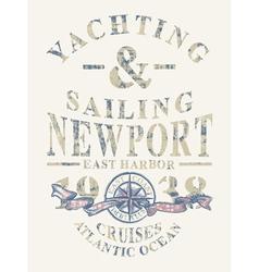 Newport yachting and sailing vector
