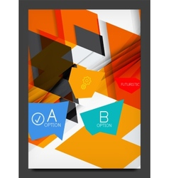 Abstract modern flyer - brochure template vector