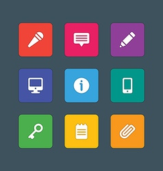 Material design style icons sign and symbols vector