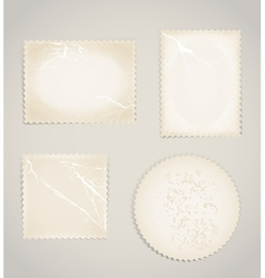 Vintage scratched post stamps template clip-art vector