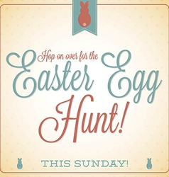 Retro vintage style easter card in format vector