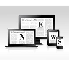 Media news concept vector