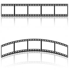 Filmstrip templates vector