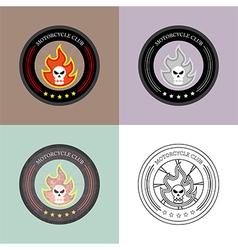 Motorcycle club logo set vintage and retro vector