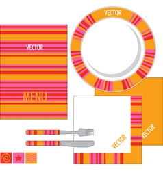 Template design for restaurant vector