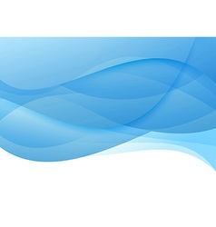 Abstract blue waves - modern background vector