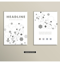 Book cover with abstract figures connected lines vector
