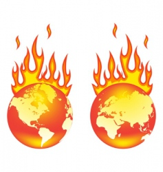 World on fire vector