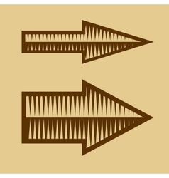 Set of trendy vintage arrows on old paper vector