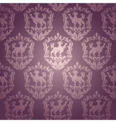 Vintage damask wallpaper vector