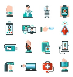Digital medicine icons vector