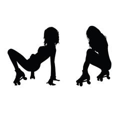 Girl hot silhouette vector
