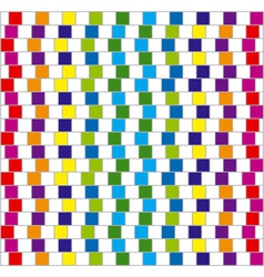 Optical illusion squares background vector