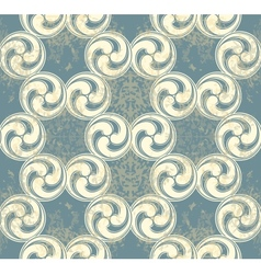Seamless pattern with blue waves vector