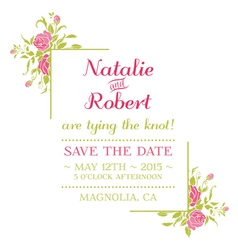 Wedding invitation card - flower theme vector