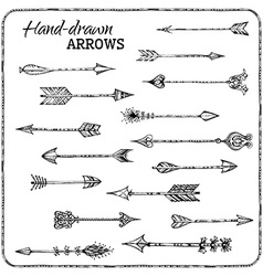 Set of hand-drawn arrows vector