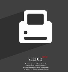 Printing icon symbol flat modern web design with vector