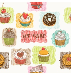 My cake drawing vector