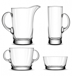 Glass tableware vector