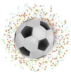 Football with color spread on white background vector