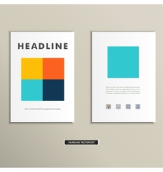 Book cover with large colored squares eps vector