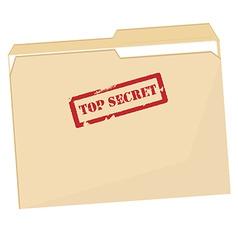 File folder with stamp top secret vector