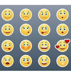 Different emotions smileys vector